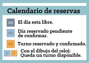 Leyenda calendario sala de fiestas infantiles